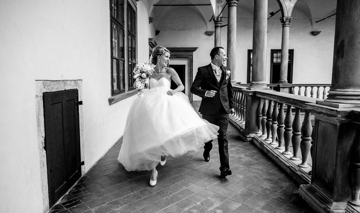 Útěk z obřadu - Svatební fotografie